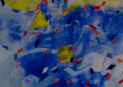 Il critico donna, calco acrilico su tela, 86x65, 1989